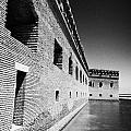 fort jefferson brick walls with moat dry tortugas national park florida keys usa Print by Joe Fox