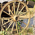 Fort Laramie WY - Moving west on wagon wheels Poster by Christine Till