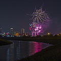 Fort Worth Fourth of July Fireworks Print by Jonathan Davison