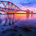 Forth Rail bridge stunning sunrise Print by John Farnan