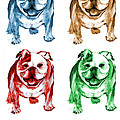 Four Bulldogs Poster by Barbara Marcus
