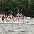 Fourth of July on the Lake Print by Susan Leggett