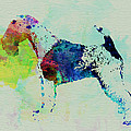 Fox Terrier Watercolor Poster by Irina  March