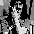 Frank Zappa - Chalk and Charcoal Poster by Joann Vitali