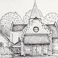 French Church Print by Michelle Welles