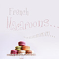French macaroons on dessert tray Poster by Sandra Cunningham
