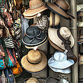 French Market Hats for Sale Poster by Brenda Bryant