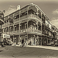 French Quarter Afternoon sepia Print by Steve Harrington