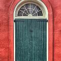 French Quarter Arched Door Print by Brenda Bryant