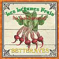 French Vegetable Sign 4 Print by Debbie DeWitt