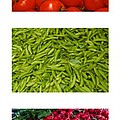 Fresh Vegetable Triptych Poster by Thomas Marchessault