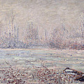 Frost near Vetheuil Print by Claude Monet