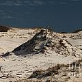 Frosty White Dunes Print by Adam Jewell