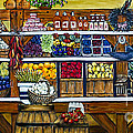 Fruit and Vegetable Market by Alison Tave Print by Sheldon Kralstein