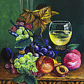 Fruit and Wine Print by Karon Melillo DeVega