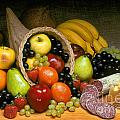 Fruit Cornucopia  Poster by Craig Lovell