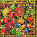 Fruit in Bamboo Box Poster by EB Watts