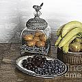 Fruit Still LIfe Print by Lesley Rigg