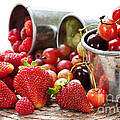 Fruits and berries Print by Elena Elisseeva