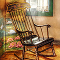 Furniture - Chair - The rocking chair Poster by Mike Savad