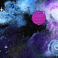 Galaxy Print by Wolfgang Finger