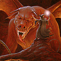 Gandalf fighting the Balrog Poster by John Silver