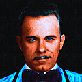 Gangman Style - John Dillinger 13225 - Black - Painterly Print by Wingsdomain Art and Photography