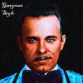 Gangman Style - John Dillinger 13225 - Black - Painterly - With Text Print by Wingsdomain Art and Photography