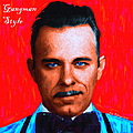 Gangman Style - John Dillinger 13225 - Red - Painterly - With Text Print by Wingsdomain Art and Photography