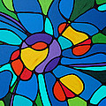 Garden Goddess - Abstract Flower by Sharon Cummings Poster by Sharon Cummings