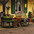 Gast Haus Display in Rothenburg Germany Print by Greg Matchick