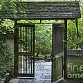 Gates of Tranquility Print by Sandra Bronstein