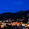 Gatlinburg Skyline at Night Print by Nancy Mueller