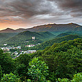 Gatlinburg Tennessee Great Smoky Mountain Sunrise Print by Mark VanDyke