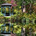 Gazebo Retreat Print by John Greim