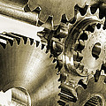 gears and cogwheels in antique look Poster by Christian Lagereek