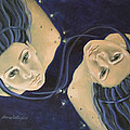 Gemini from Zodiac series Poster by Dorina  Costras