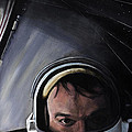 Gemini X- Michael Collins Print by Simon Kregar
