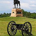 General Meade Monument and Cannon Print by James Brunker