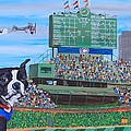 Geno at Wrigley 2014 Print by Mike Nahorniak