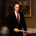 George HW Bush Presidential Portrait Poster by War Is Hell Store