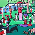 Georges Seruat A Cyclops Afternoon on the Island of La Grande Jatte Poster by Thomas Valentine