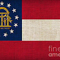 Georgia State Flag Poster by Pixel Chimp