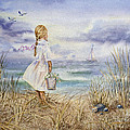 Girl And The Ocean A Special Order for Art Collector Print by Irina Sztukowski
