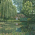 Giverny Reflections Poster by Richard Harpum