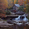 Glade Creek Grist Mill in autumn Poster by Jetson Nguyen