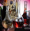 Glass Decanters Print by Kathleen Struckle