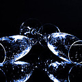 Glass of shampagne Poster by Tommy Hammarsten