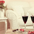 Glasses Of Red Wine Print by Christopher and Amanda Elwell