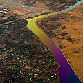 Glowing River. Rainbow Earth Poster by Jenny Rainbow